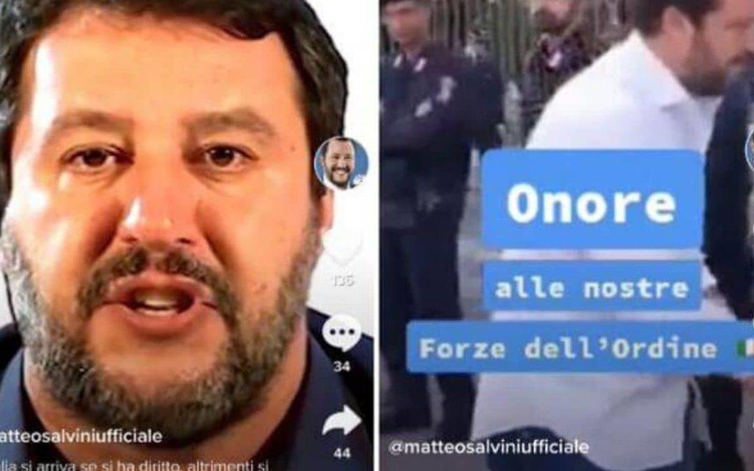 Tik Tok, Salvini fa flop totale. Il social è pro-migranti e LGBT e gli utenti insultano il leader leghista