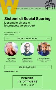 Privacy week - Sistemi di social scoring
